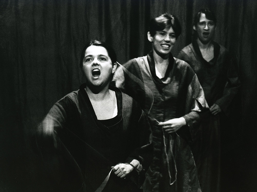 Sally Pomme Clayton, Claire Hughes and Helen in THE SINGING CIRCLE