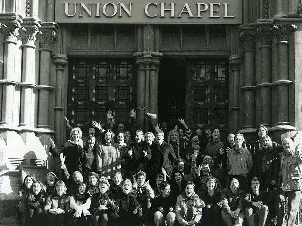 Cast of THE BLAZING HEART at Union Chapel London